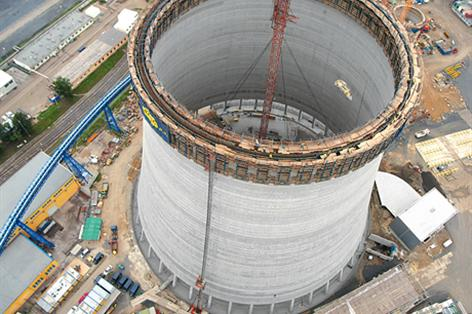 large cooling tower quickly formed to perfect precision